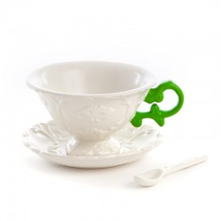 set da tè tea i-cup con manico verde