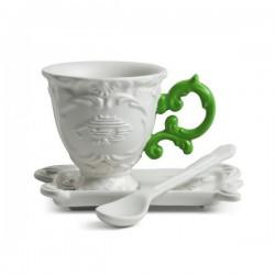 set caffè i-wares manico verde