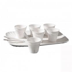 Set 6 tazzine caffè con vassoio estetico quotidiano