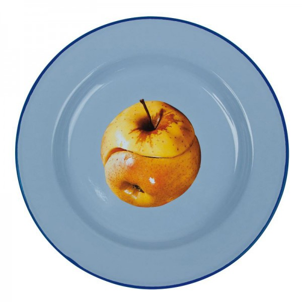 piatto in metallo smaltato mela toiletpaper