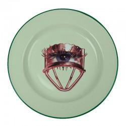 piatto in metallo smaltato toiletpaper occhio