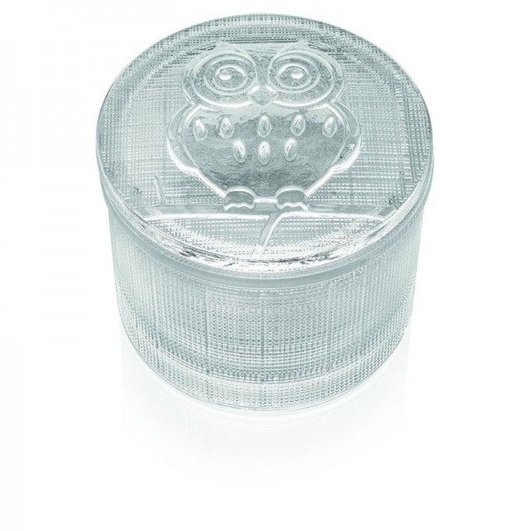 Bomboniera segreti scatolina con coperchio gufo altezza 7,8 cm tra
