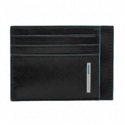porta carte di credito in pelle nero