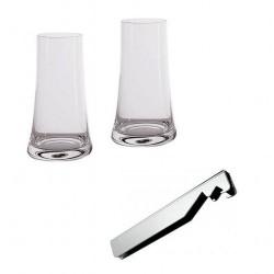 set bicchiere con apribottiglie splugen
