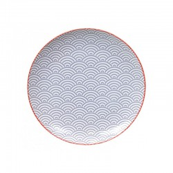 wave piatto 25.7cm viola rosso bordo