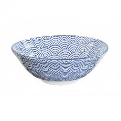nippon blue ciotola soba 21x7.8cm wave