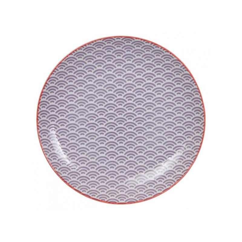 star wave piatto 25.7x3cm wave viola rosso bordo
