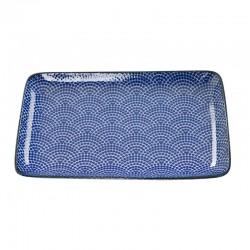 nippon blue piatto rettangolare blue 21x13.5cm do