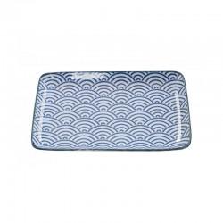 nippon blue piatto rettangolare blue 21x13.5cm wa