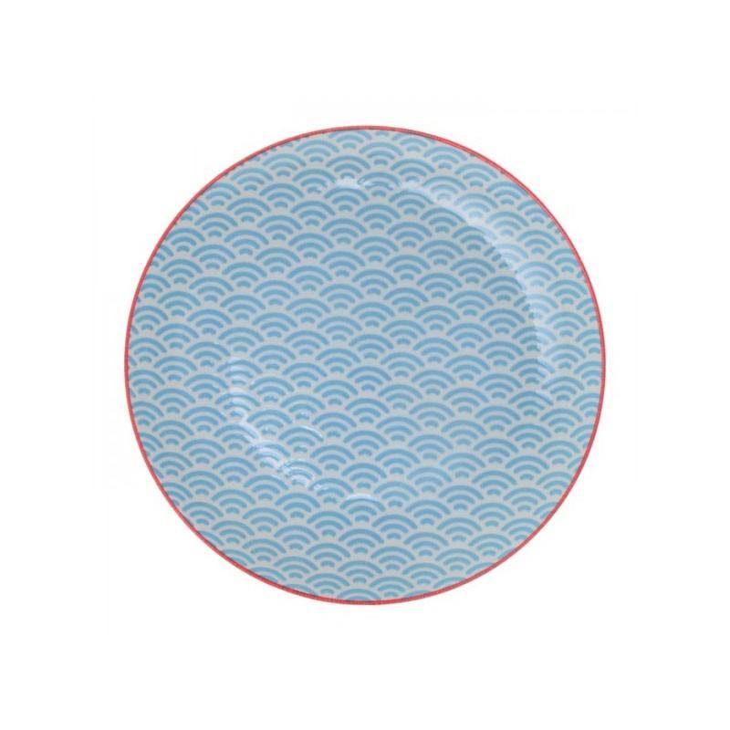 star wave piatto 20.6x2.2cm aqua