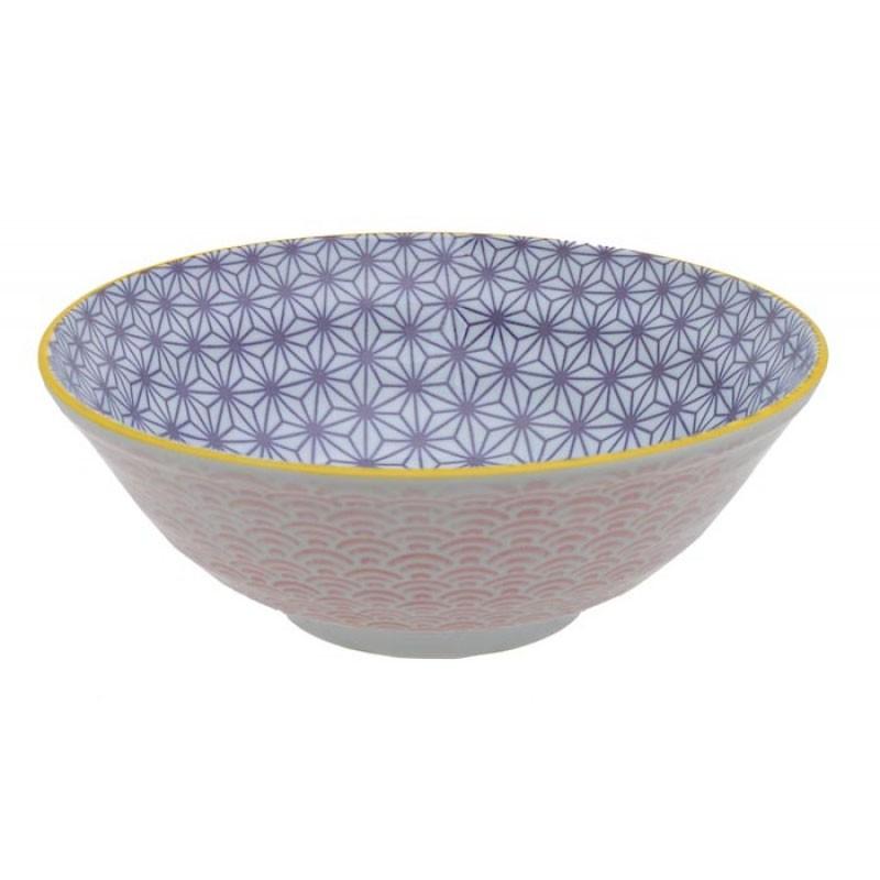 star wave ciotola noodle 21x7.8cm viola rosa