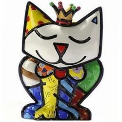 Bomboniera figurina mini re gatto