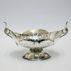 Coppa in argento con manici