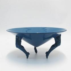 centrotavola cono gambe m  blu lucido