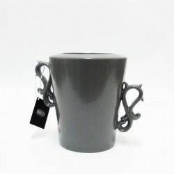 vaso cutted conic grigio