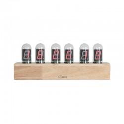 orologio da tavolo led cathode base bamboo