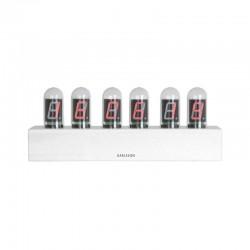 orologio da tavolo led cathode base bianca