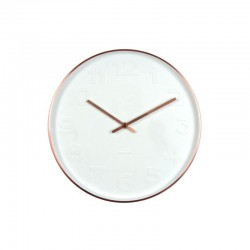 Orologio muro Mr. White numbers cassa color rame