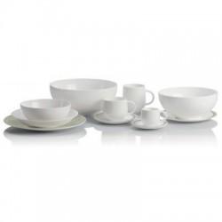 sei tazze caffè con piattino acquerello