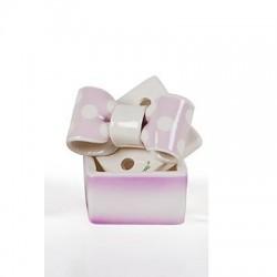 scatoletta fiocco lilla
