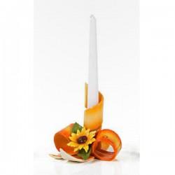 portacandela fascia arancio girasole