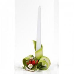 portacandela fascia verde fragola