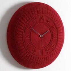orologio da muro cotone rosso