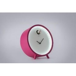 orologio da tavolo lampada rosso
