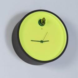 orologio cucu wenge quadrante giallo