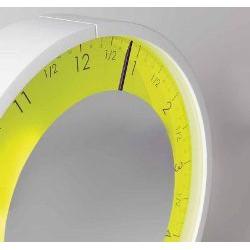 orologio solo ora bianco quadrante giallo luminos