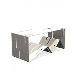 tavolino portariviste bianco