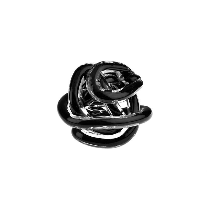 Bomboniera nodo dell'amore nero 8cm