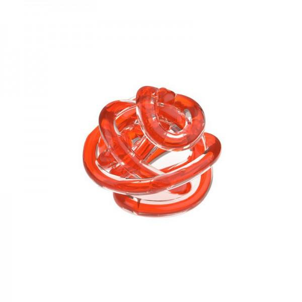 Bomboniera nodo dell' amore arancio 8cm