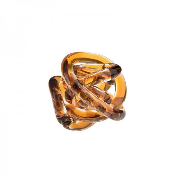Bomboniera nodo dell' amore ambra 8cm