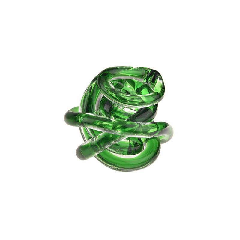 Bomboniera nodo dell'amore verde 8cm