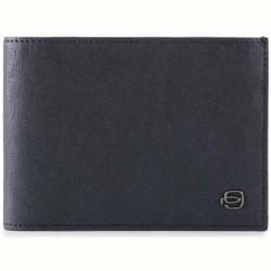 portafoglio uomo, porta carte di credito in pelle blu