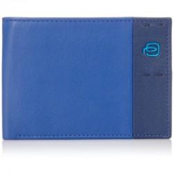 portafoglio uomo in pelle blu