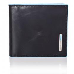 portafogli con molla porta dollari in pelle nero