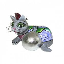 gatto silverball cat 13cm