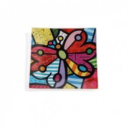 vassoietto vetro butterfly  cm15x15