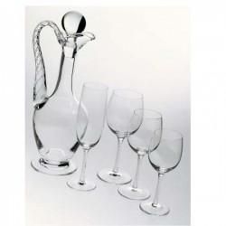 sei calici vino spirale
