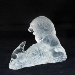 statua leone cristallo