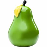 deco oggetto pera verde