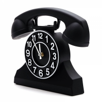 orologio da parete telephone nero