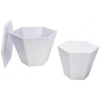tavolino esagonale bianco grande