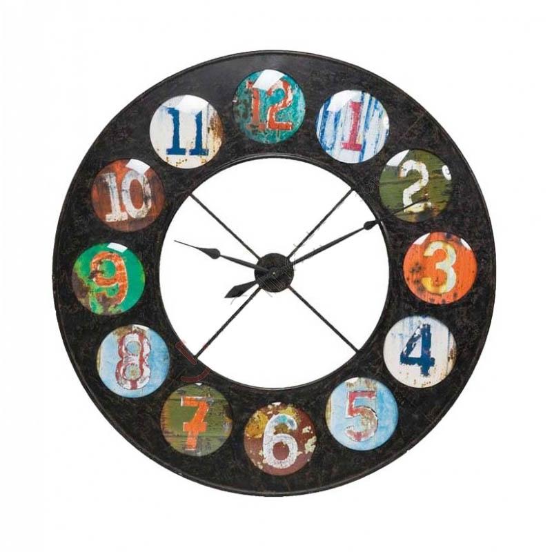 orologio a parete vintage coloure