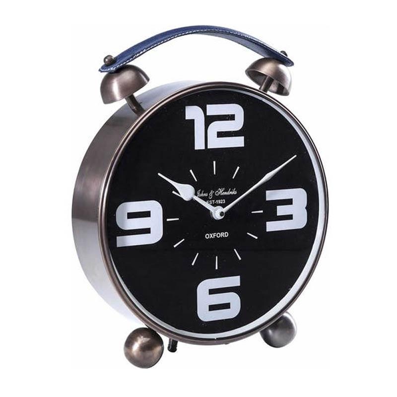 orologio sveglia in metallo color rame