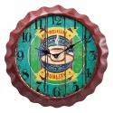 orologio da muro vintage coffee marrone