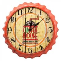 orologio da muro vintage coffee arancio