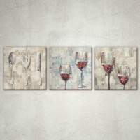 tela vino e cucina set 3 pz
